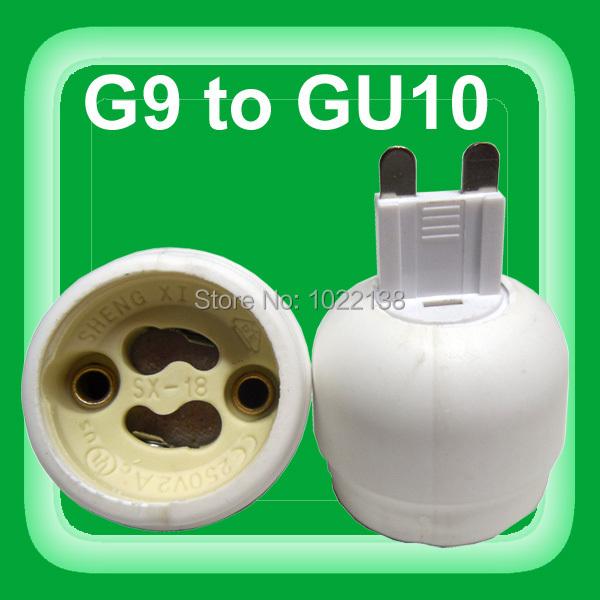 G9 to GU10 lamp holder socket adapter G9-GU10 lamp base converter connector 10pcs/lot(China (Mainland))