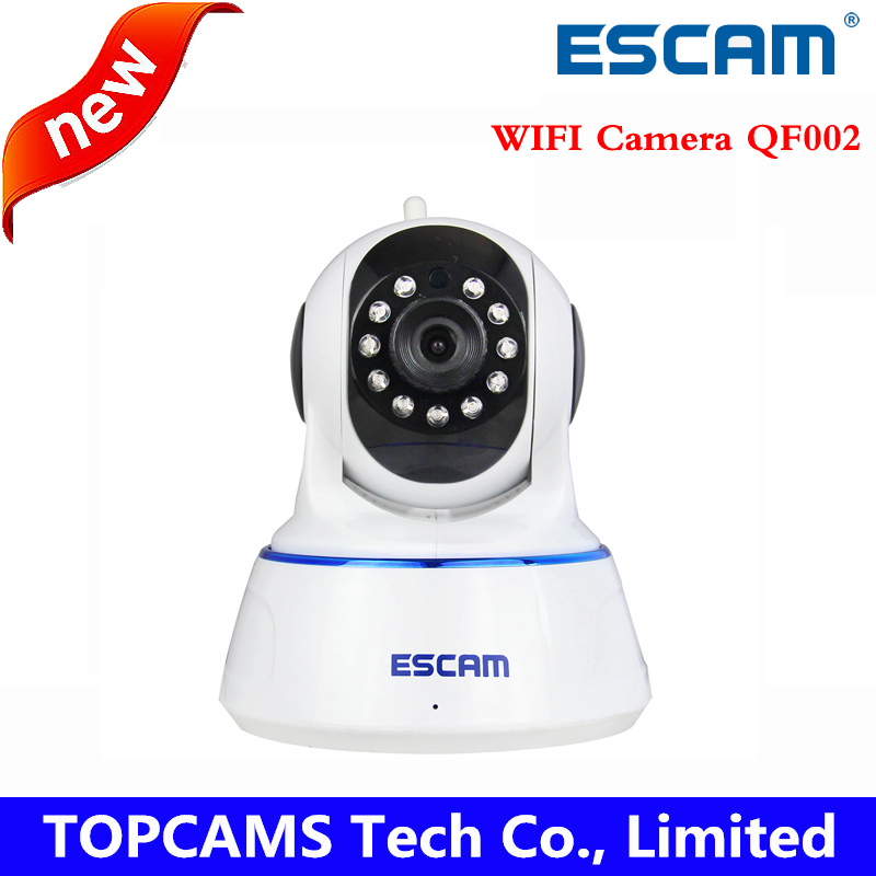 Escam 720P QF002 Indoor Network WIFI IP Camera infrared support P2P IR-Cut Smartphone H.264 Pan/Tilt PT Wireless MAX 32G TF Card(China (Mainland))