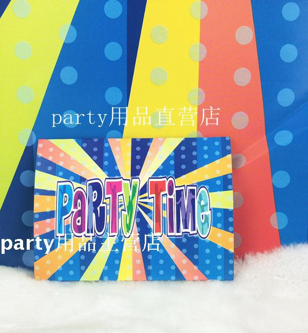 30pcs/Lot Colorful Theme Party Invitation Card Children Birthday Party Supplies(China (Mainland))