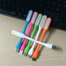 Free Shipping USB LED Lamp 5V 1.2W Portable Mi LED USB night light For Power bank Computer MI Bendable Slim Lamp