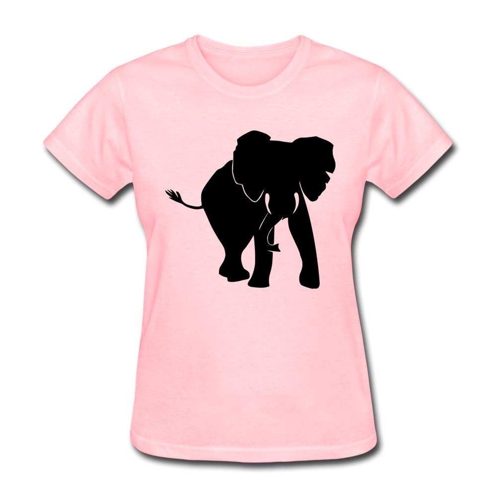 Design 100 cotton womens t shirt elephant cool shapes for Cheap custom shirts bulk