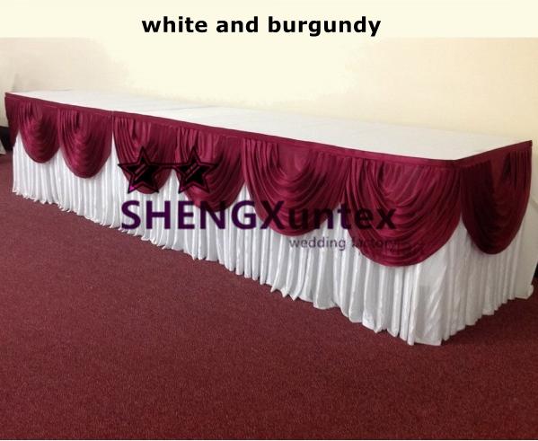 Burgundy top table swag-600x600