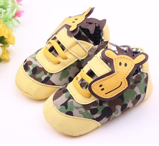 Hot sale baby shoes girls boys shoes cute cartoon giraffe baby boy shoes girls fashion camouflage comfort baby girl shoes infant(China (Mainland))