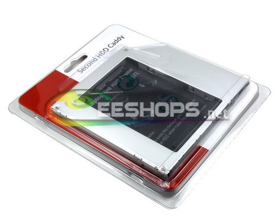 Notebook PC 2nd HDD SSD Caddy Second Hard Disk Enclosure DVD CD Optical Drive Bay for Acer Aspire 5920G 5920 Extensa 5220 5220G(Hong Kong)