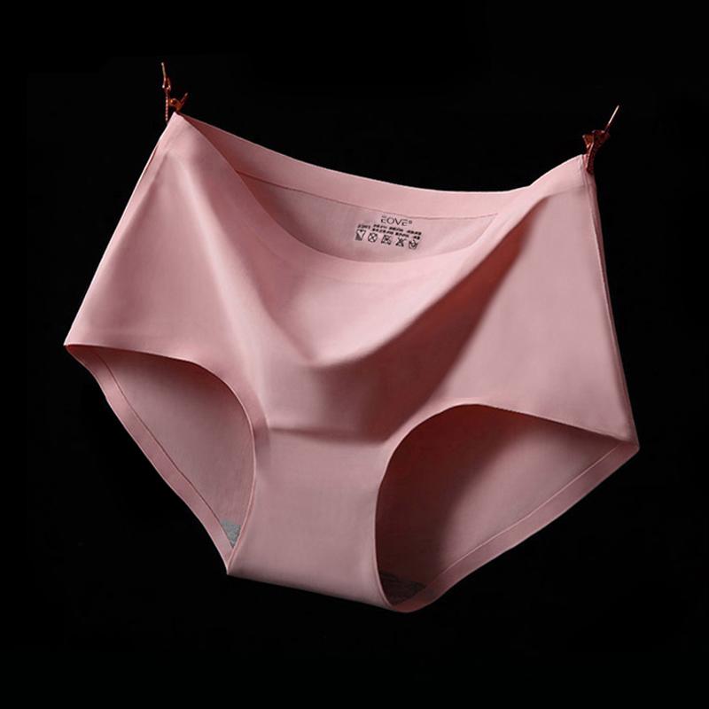 Hot Top Quality Women Black Sexy Ladies Girls Seamless Briefs Panties Underwear Knickers 100% Cotton High-end Ice Silk Briefs(China (Mainland))