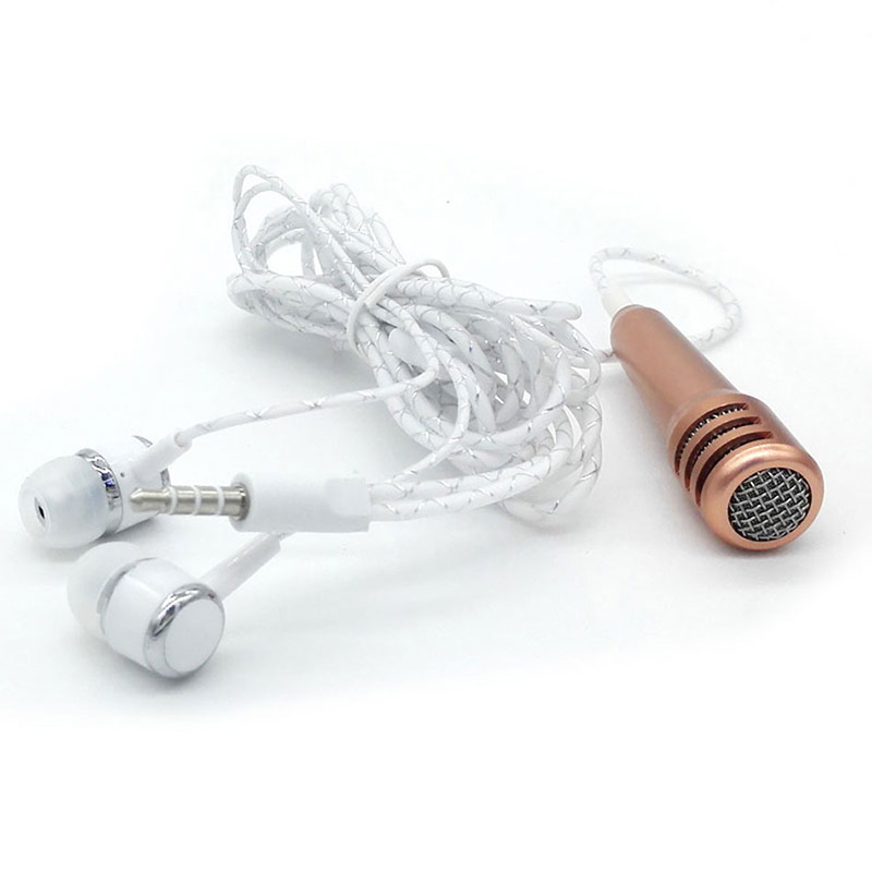 3.5mm Audio Plug Mini Microphone Portable Stereo Condenser Mic for Chatting/Singing/Karaoke/PC/ Ipad/Smartphone IOS Android(China (Mainland))
