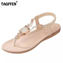 bohemian beaded women flat sandals clip toe brand quality sexy sandals fashion ladies shoes size 36-42 WA0062(China (Mainland))