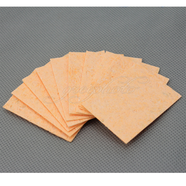 New 10pcs/Lot Super Warming Heat-resisting Compressed Sponge For Solder Cleaning Hot(China (Mainland))