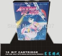 Sega MD games card with Box – Arrow Flash For 16 bit Sega MegaDrive Genesis Game Cartridge Console