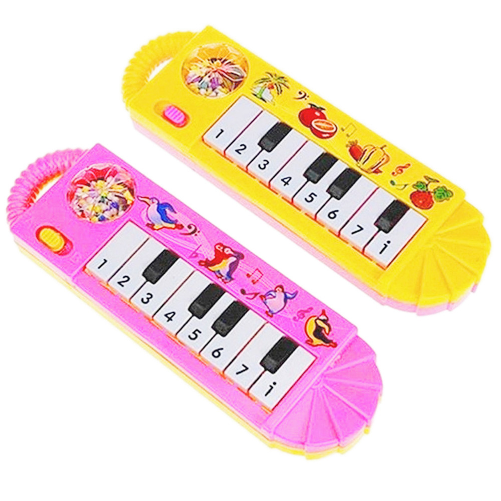 1Pcs 0-7 Years Old Musical Instrument Boys Girls Mini Piano Toys Cartoon Baby Toddler Kids Early Educational Toys Color Random(China (Mainland))