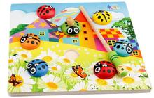 Exempt postage, fishing toys, magnetic beetle, educational toys, parent-child toy, train baby's hand-eye coordination(China (Mainland))