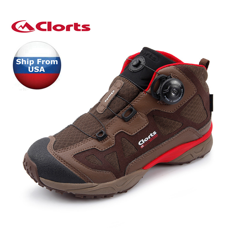 (Shipped From USA Warehouse)2017 Clorts Womens Hiking Boots Outdoor Sports Shoes Boa Fast Lacing PU For Female 3B025D(China (Mainland))