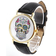 Fashion Wholsale Design Women Dress watches Quartz Watch fashion SKULL Watch Ladies Men Sport Watch#L05619