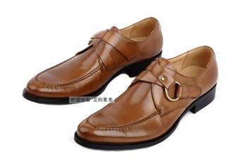Новейшие 2015 мужская обувь оксфорды круглый носок черный и коричневый натуральная кожа красивые ежедневные свободного покроя башмаки мужской обуви размер : 6.5 - 11 OX83