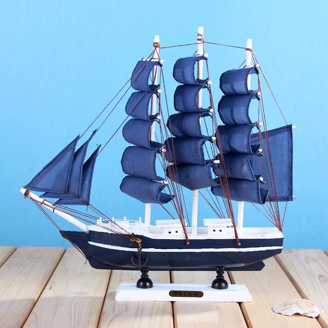 Promotie home decoratie handwerk schip model houten for Decoratie zeilboot