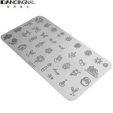DANCINGNAIL 1pcs Halloween&Christmas Stainless Manicure Design Template Nail Art Image Stamp Plate Nail Stamping(China (Mainland))