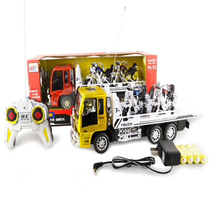 1 Piece Hot Sale Electric Remote Control RC Truck Radio Control  with Remote Control Pull Back Motorcycle with Lights