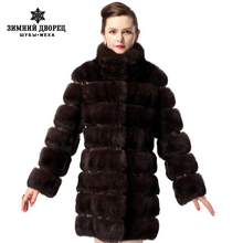 New fashion mink fur coats, sable fur coat from natural fur, a cross pattern with python skin mink coat,Free shipping(China (Mainland))