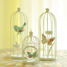 European iron candlestick candle holder creative butterfly cage(China (Mainland))
