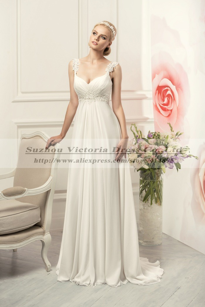 Vestidos De Noiva 2015 Sexy Beach Bohemian Wedding Dress Lace Chiffon Boho Cheap Wedding Dresses