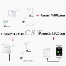 3in1 VRP150 Wifi Repeater 802 11N B G Mini WiFi 3G Wireless Router 2A Charger for