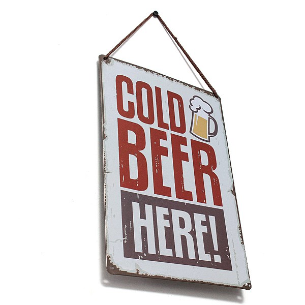 30 X 20cm Tin Sheet Metal Sign Cold Beer Decor Pub Bar Wall Metal Home Tavern Garage Home Wall Decor Retro Metal Art Poster