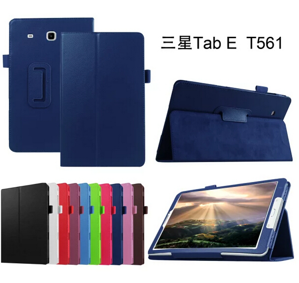 Hot sale Lichee leather BOOK Cover capa para for Samsung GALAXY Tab E T560 T561 9.6 inch tablets &amp; Books case+ stylus as gift<br><br>Aliexpress
