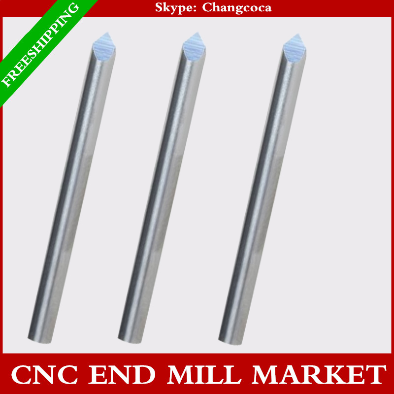4mm*90degree,10pcs,3 sizes,CNC machine solid carbide end mill,milling cutter,Acrylic,Aluminum,copper,zinc,stainless steel,jade(China (Mainland))