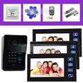 DIYSECUR 7 Inch Video Door Phone Intercom System IR Password Keypad RFID Reader Camera Electric Bolt