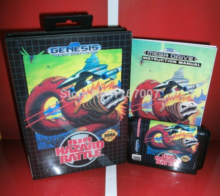 Sega MD game - Bio hazard Battle with Box and Manual for 16 bit Sega MD game card Cartridge Megadrive Genesis system<br><br>Aliexpress
