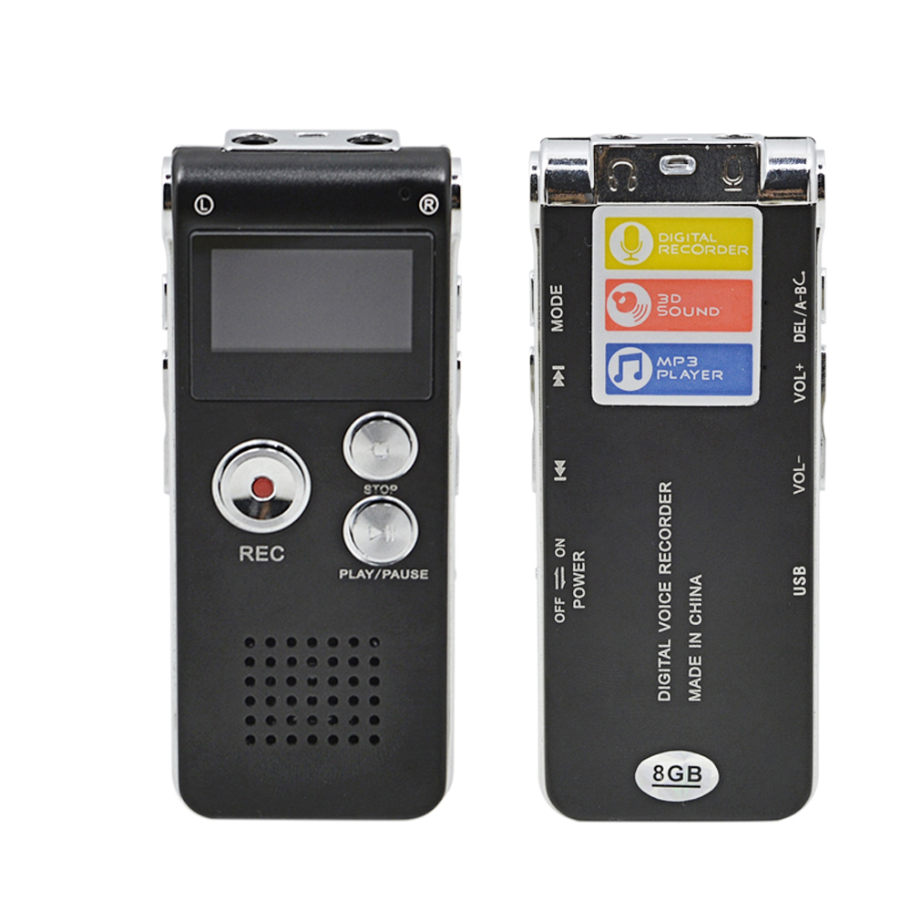 Professional USB Voice Recorder 8GB Rechargeable Digital Dictaphone 3-in-1 U-Disk MP3 Player Audio Recorder Gravador de voz(China (Mainland))