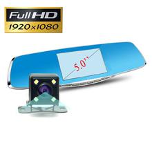 New Full HD 1080P Car Dvr Camera Novatek 5 Inch Rearview Mirror DVRs Digital Video Recorder With Dual Lens Registrar Camcorder