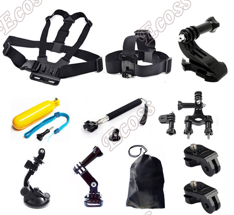 Xiaomi Yi Accessories Set Car Suction Cup Chest Strap +Bike Bicycle