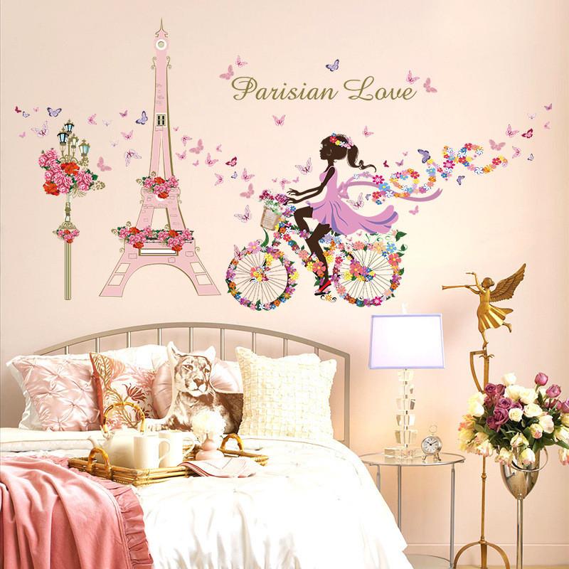 Achetez en gros tour eiffel mur foto en ligne des for Decoration paris pour chambre