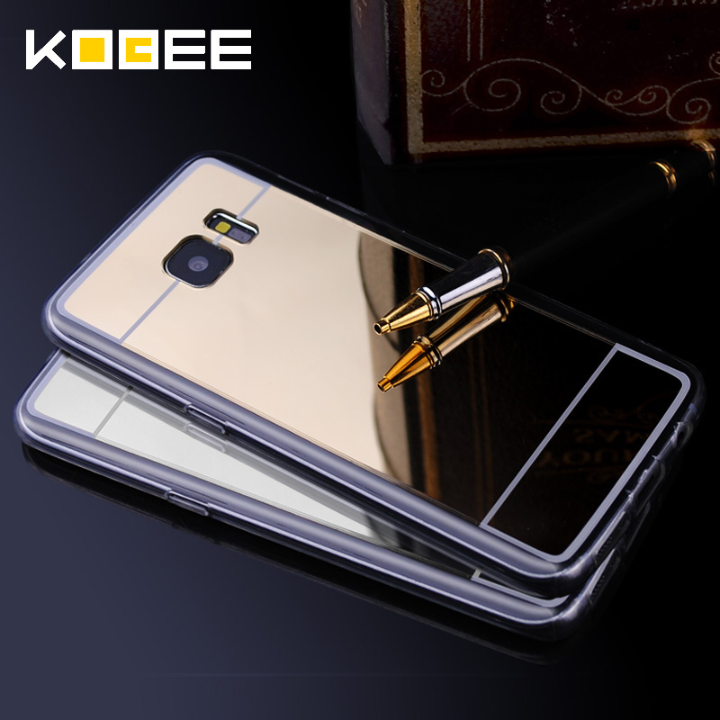 Luxury Cover For Samsung Galaxy S7 Edge S7 Case Mirror Aluminum TPU Back Phone cover for samsung galaxy s7 edge accessories(China (Mainland))