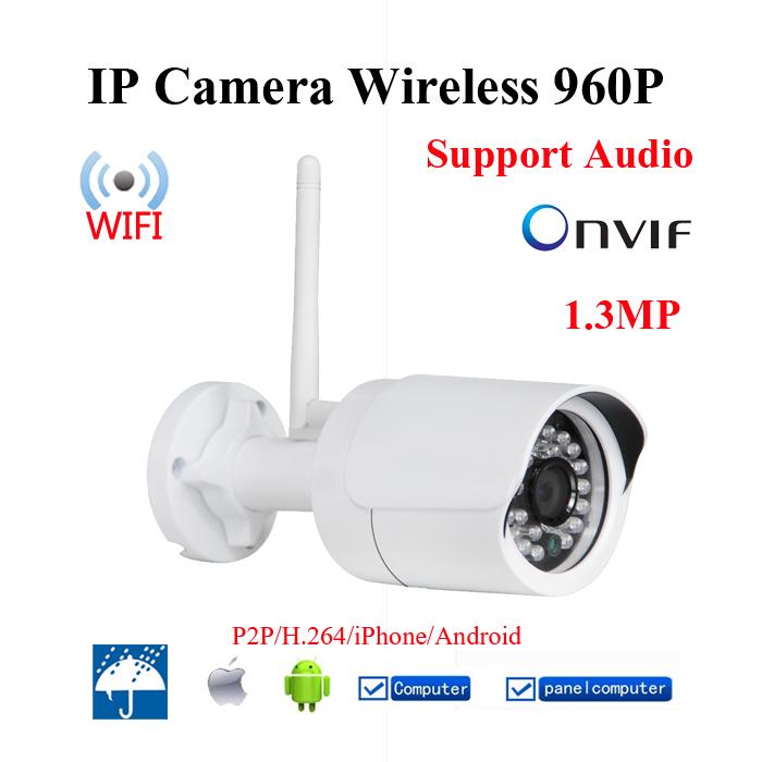 Wifi 960P 1.3Megapixel HD IP Camera Wireless Network Waterproof Security H.264 P2P Cam ONVIF Outdoor CCTV Mini HD Cameras(China (Mainland))