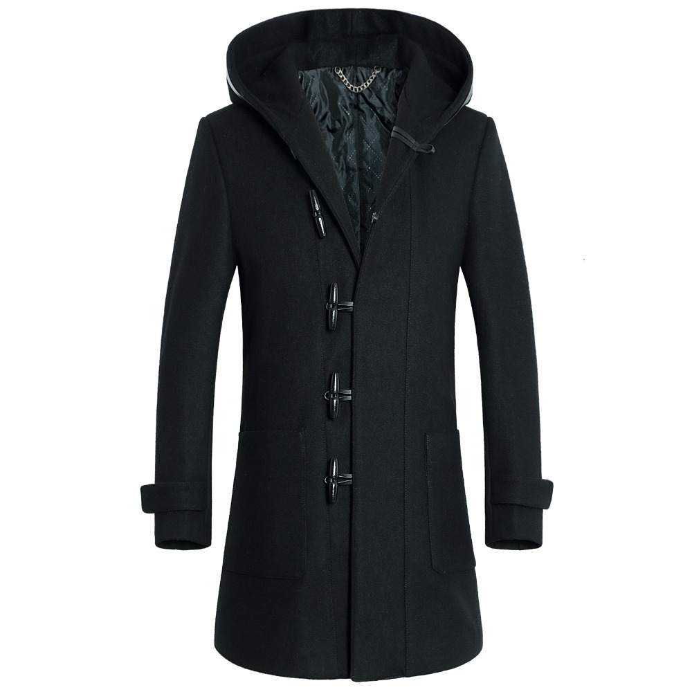 Online Get Cheap Mens Hooded Wool Trench Coat -Aliexpress.com