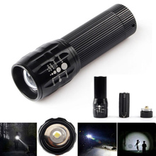 2015 lanterna 2000 lumens baton free led practical Zoomable LED Flashlight Torch light For camp Flashlight(China (Mainland))