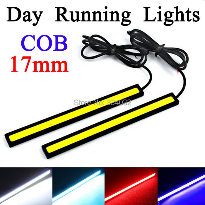 2x 17CM 12v cob led drl Super White parking waterproof drl led daytime running lights DRL