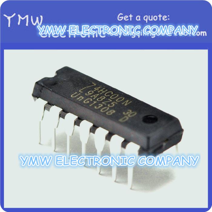Free shipping 50pcs/lot 74HC00N 7400 74HC00 Quadruple 2-Input NAND Gate DIP-14 high quality IC YMW(China (Mainland))
