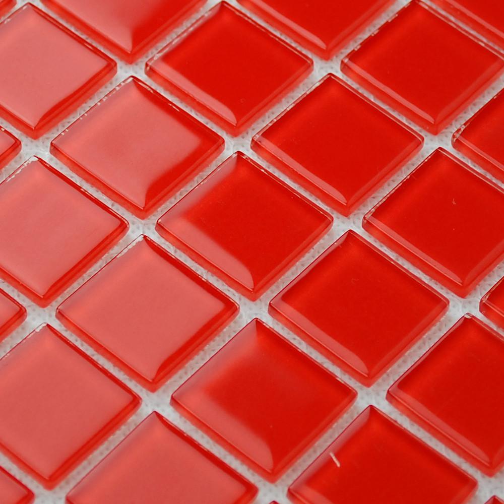Azulejos Para Baño De Cristal:azul cristal rojo mosaico de vidrio azulejo de la cocina baño azulejo