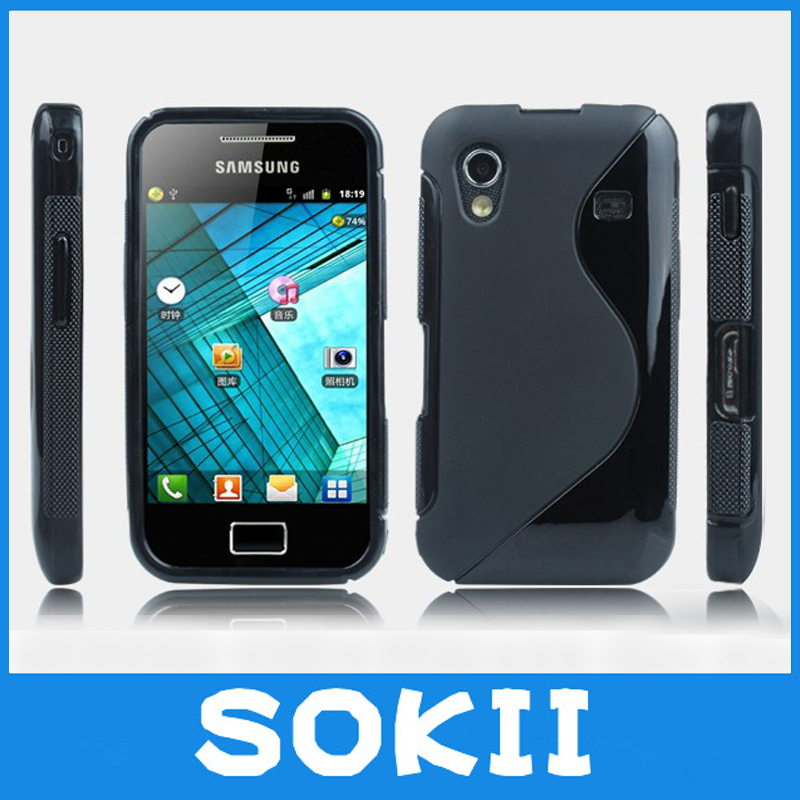 For Samsung S5830 Galaxy Ace Wave S Line Gel Skin Case Cover,Matte Soft TPU Gel S-Line Elegant Case For Samsung Galaxy Ace cases(China (Mainland))