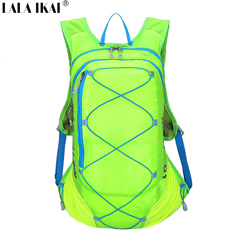 2016 New Professional 15L Cycling Bicycle Bike Backpack Unisex Breathable Light Color Mochila Outdoor Running Backpack YIN0308-5(China (Mainland))
