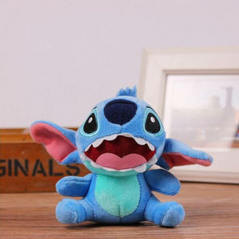 2017 LOVERS LILO Stitch - Plush Stuffed TOY Phone Charm String Pendant TOY BAG Key Chain Wedding Bouquet TOY Gift(China (Mainland))