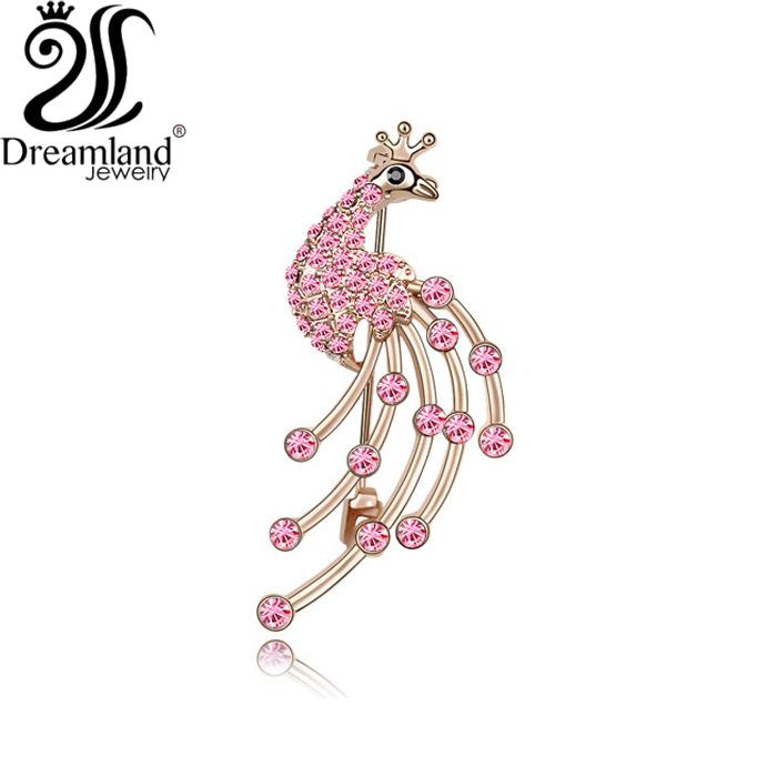 Peacock Fine jewelry Fashion Vintage Brooches Crystal stone Zircon Bride Brooch Pins Women Wedding Brooch ,Free Shipping Bro30(China (Mainland))