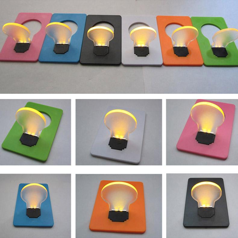 5pcs Portable Pocket LED Card Light Lamp put in Purse Wallet Random Color Shop E2shopping(China (Mainland))