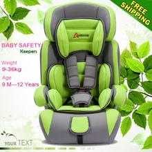 Top quality! Child baby car safety seat belt seat chair 7 colors kid protection Free shipping for 9 month - 12years child(China (Mainland))