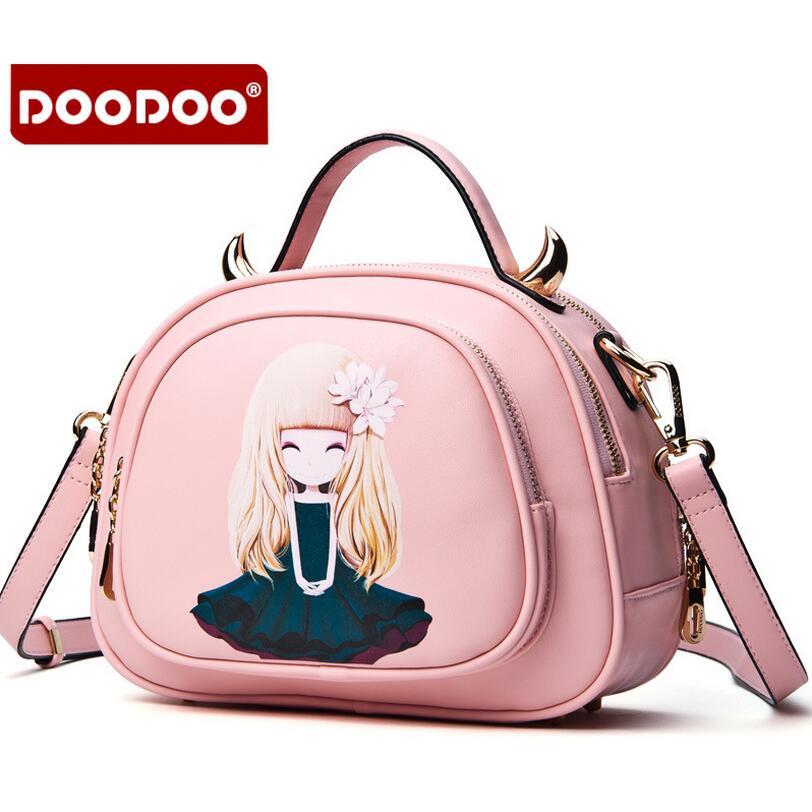 DOODOO 2016 New Shoulder Messenger small print handbag women messenger bag fashion vintage small bags Round women's handbag bag(China (Mainland))