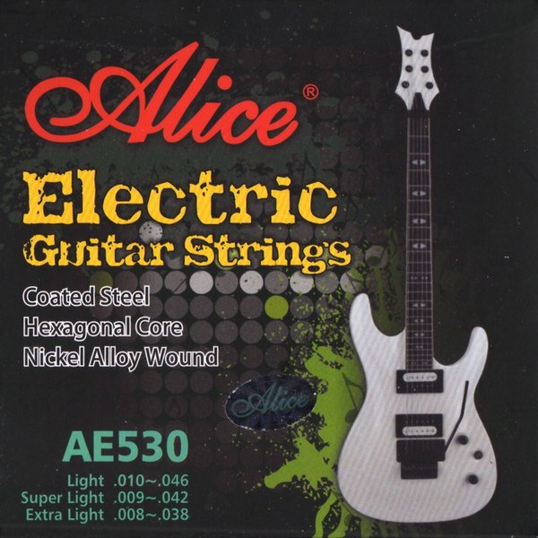 $0.50/pc, 20 pcs SINGLE Electric Guitar Strings, 3G .015 (15), Coated Steel, AE530 , Alice(China (Mainland))
