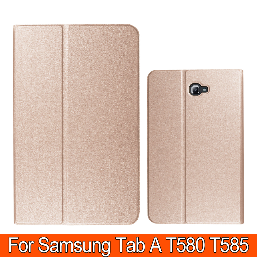 Luxury Pu Leather Case For Samsung galaxy Tab A 10.1 T580 T585 N/F Smart Tablet Housing PC TPU Back Cover Skin Shell(China (Mainland))